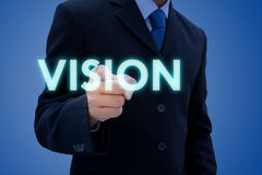 Affärsman och hans vision Arkivbild