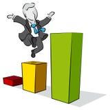 Affärsman och infographic Arkivfoton