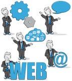 Affärsman och internet Arkivbilder