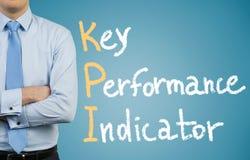 Affärsman och KPI Arkivfoton