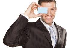 Affärsman och kreditkort Royaltyfria Bilder