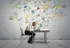 Affärsman och ny idé