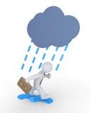 Affärsman och regn vektor illustrationer