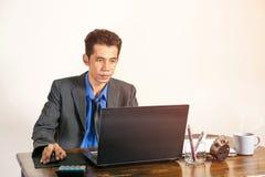 Affärsman och teknologi Royaltyfri Fotografi