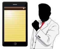 Affärsman och telefon Arkivfoto