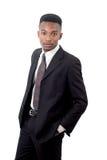 Affärsman på den vita bakgrunds-, dräkt- och bandgrabben royaltyfri foto