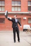 Affärsman på gatan Fotografering för Bildbyråer