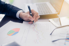 Affärsman Planning Startup Arkivfoton