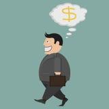 Affärsman rikedom framgång Stock Illustrationer