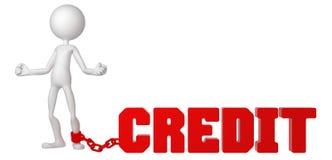 affärsman sammankopplintt krediteringsfottecken till royaltyfri illustrationer