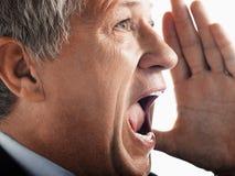 Affärsman Screaming Fotografering för Bildbyråer