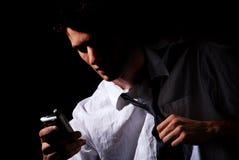 affärsman som belastas ut fotografering för bildbyråer