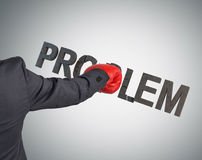 Affärsman som bryter problem Royaltyfri Foto