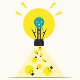 Affärsman som får den stora idén, illustration Royaltyfri Bild