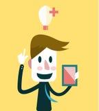 Affärsman som får idéer Arkivfoton