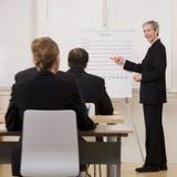 affärsman som förklarar presentation arkivfoton