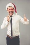 Affärsman som firar jul Royaltyfria Foton