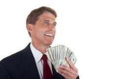 affärsman som gör pengar Arkivfoton