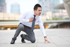 Affärsman som har hjärtinfarkt Arkivfoton