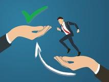 Affärsman som kör för att true beslut Affärsidévektor vektor illustrationer
