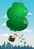 Affärsman som kastar pengar Fotografering för Bildbyråer