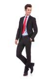 Affärsman som ser till hans vänster sida arkivbild