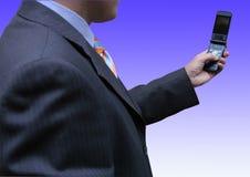 affärsman som tar videoen Arkivfoto