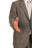 Affärsman som upprör handen Arkivbild
