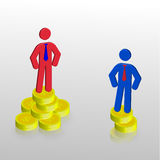 affärsman två vektor illustrationer