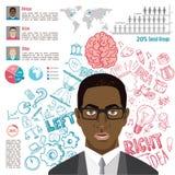 AffärsmanAfrican American Ethnic ledare royaltyfri illustrationer