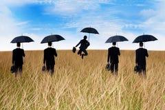 Affärsmanförsäkringmedel Arkivfoton