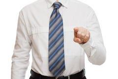 Affärsmanfinger in för Arkivfoton