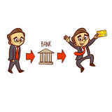 AffärsmanGets Credit Card bank Arkivbild