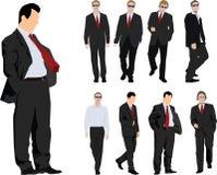 affärsmangrupp royaltyfri illustrationer