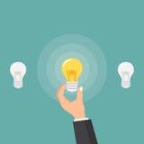 Affärsmanhand som ger lightbulben idébilden för begreppet 3d framförde eps10 blommar yellow för wallpaper för vektor för klippnin Royaltyfri Fotografi