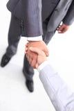 affärsmanhandhandskakning Royaltyfri Fotografi
