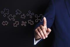 Affärsmanhandpussel vektor illustrationer