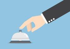 Affärsmanhandringning i tjänste- klocka Royaltyfri Bild
