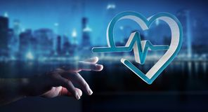 Affärsmaninnehav och rörande medicinsk tolkning för symbol 3D Royaltyfri Bild