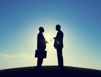 Affärsmankonsulent Discussion royaltyfri bild