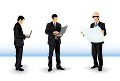 Affärsmankonturer Arkivbild