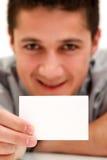affärsmankort Fotografering för Bildbyråer