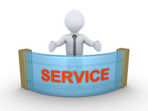 Affärsmannen ger service Royaltyfri Fotografi
