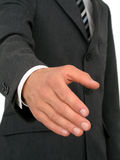 affärsmannen hands klar shake till fotografering för bildbyråer
