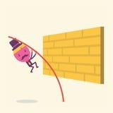 Affärsmannen hoppar barriären Fotografering för Bildbyråer