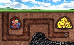 Affärsmannen kan inte få skatttunnelbanan Arkivfoton
