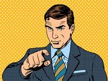 Affärsmannen som pekar fingret, valde dig vektor illustrationer