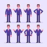 Affärsmanpunkter och shower set vektor för teckeningrepp royaltyfri illustrationer