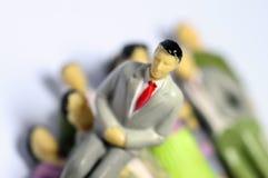 Affärsmansammanträde på andra folk Arkivfoton