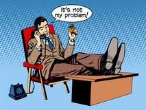 Affärsmansamtalaffärsidéen är inte min Arkivbild